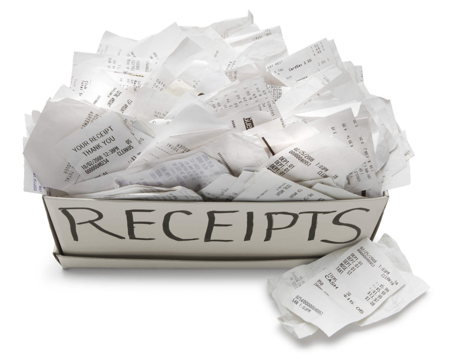 collection-of-random-receipts-and-tags-lying-around-in-a-myriad-of-places-in-our-homes