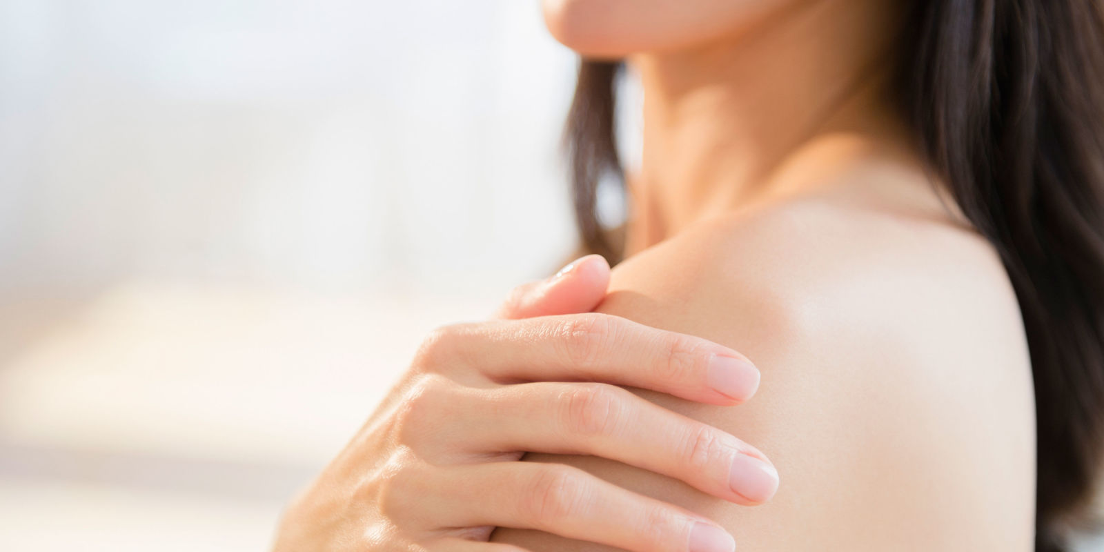 The minerals in hard water can dry the skin out