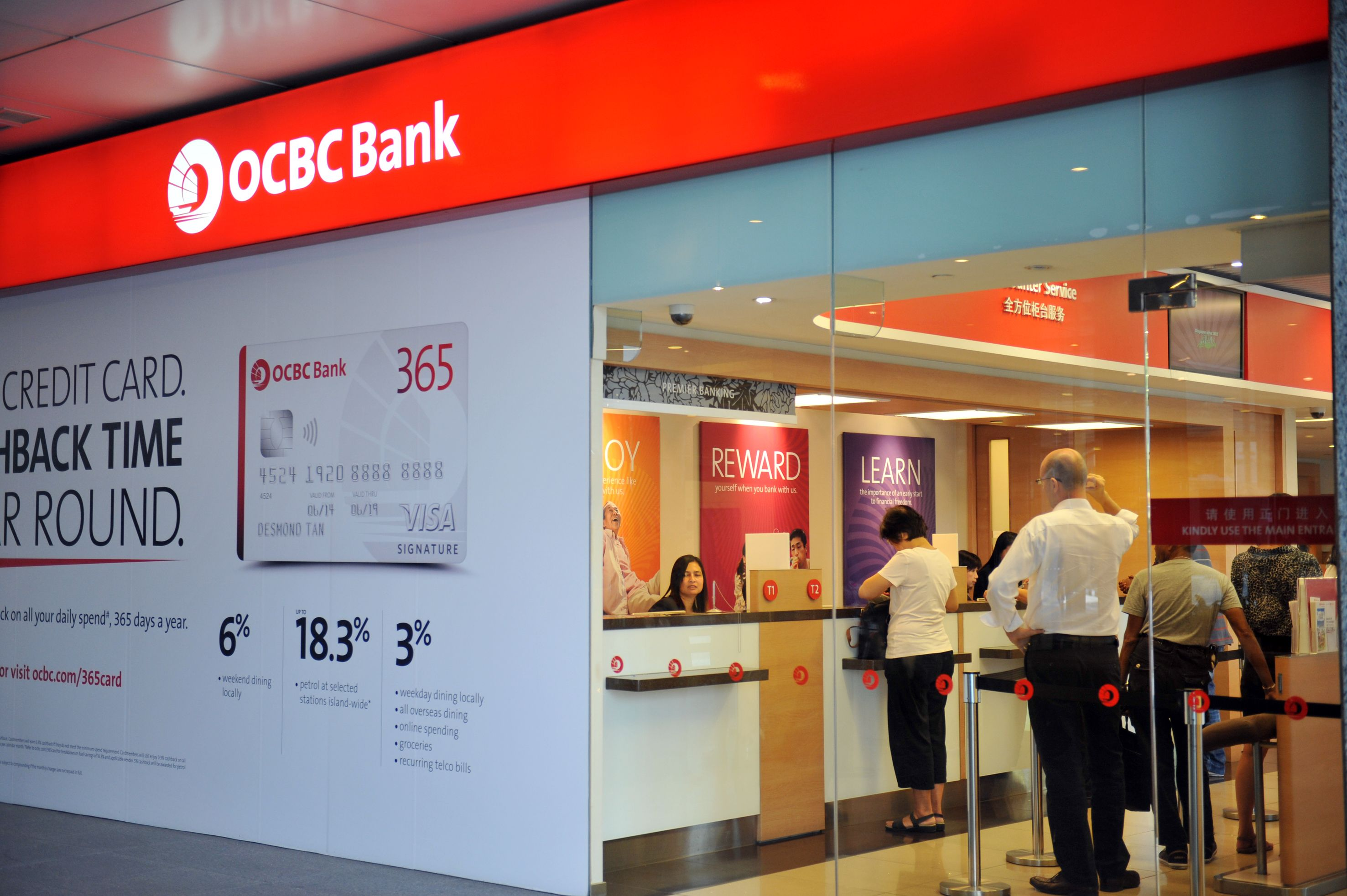 business investment account with OCBC.